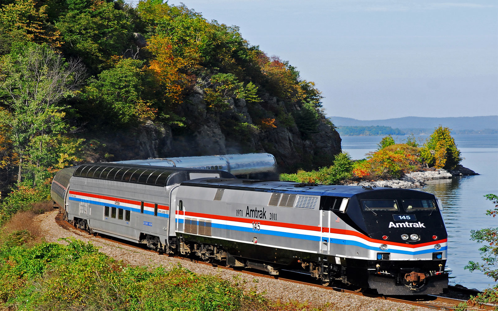 Amtrak's Great Dome Car cuts through the Adirondack Mountains.