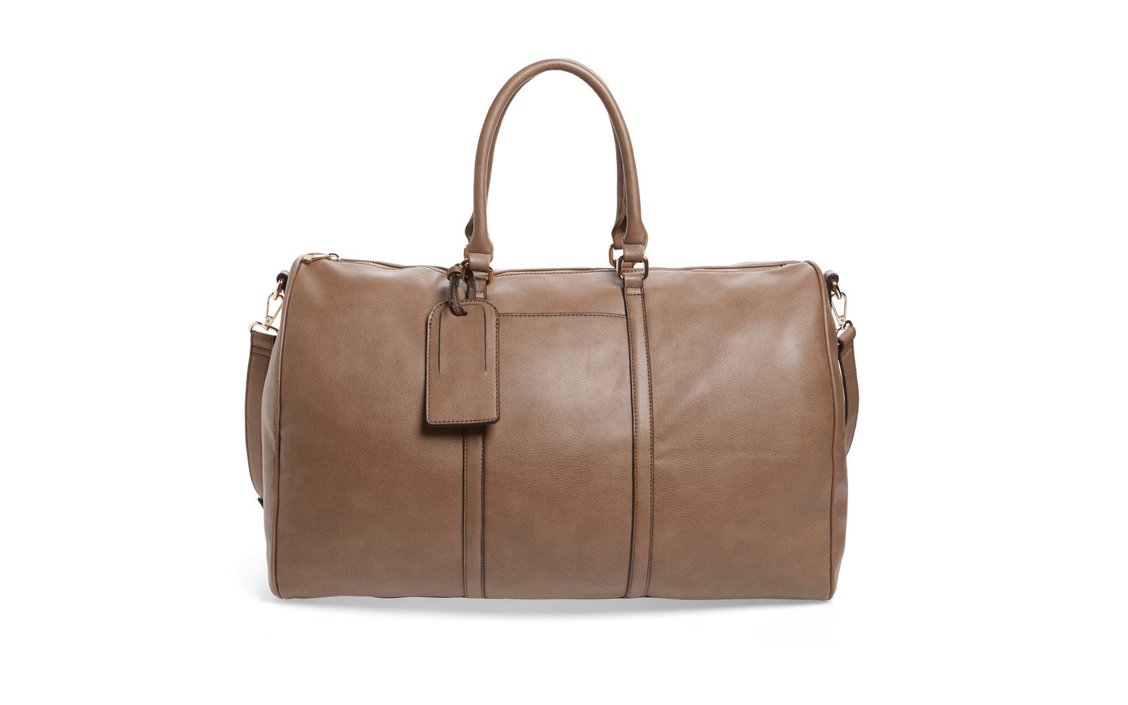 faux leather duffel