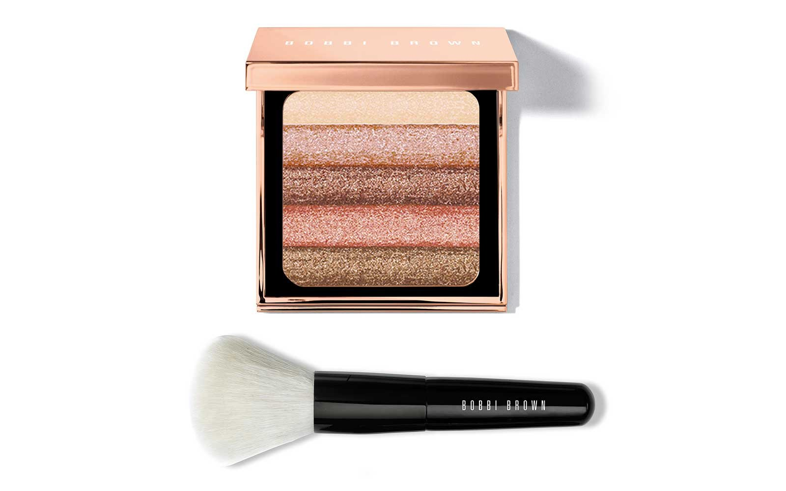 Bobbi Brown shimmer powder and brush