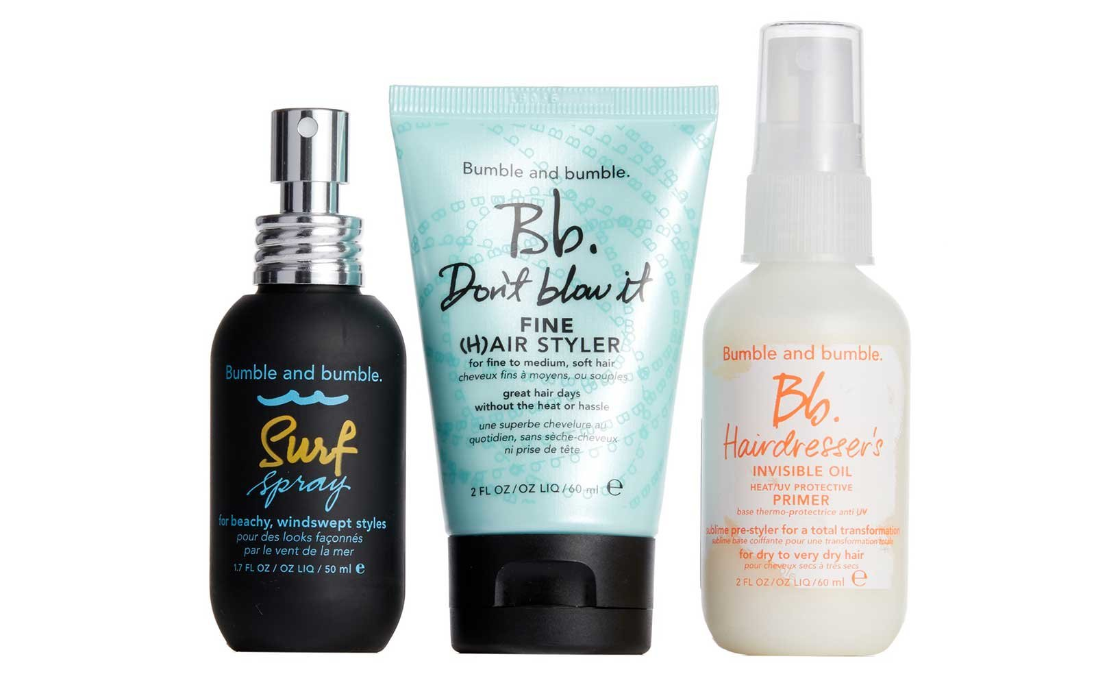 Bumble and bumble travel beauty set