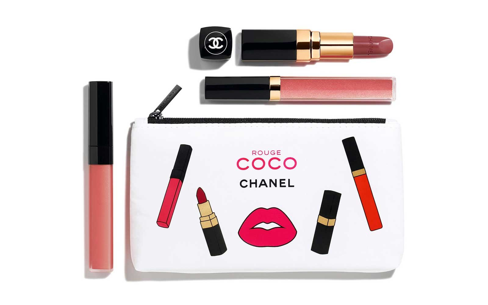 Chanel lip gloss and lipstick set