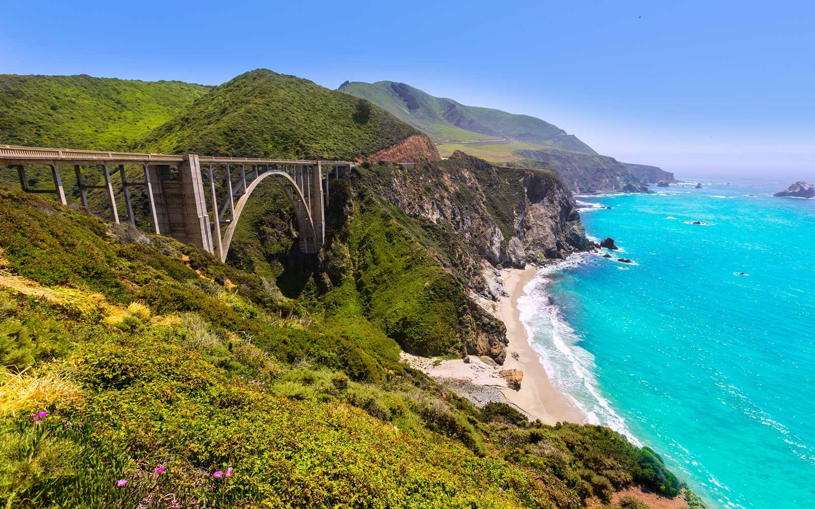California Bixby bridge in Big Sur Monterey County