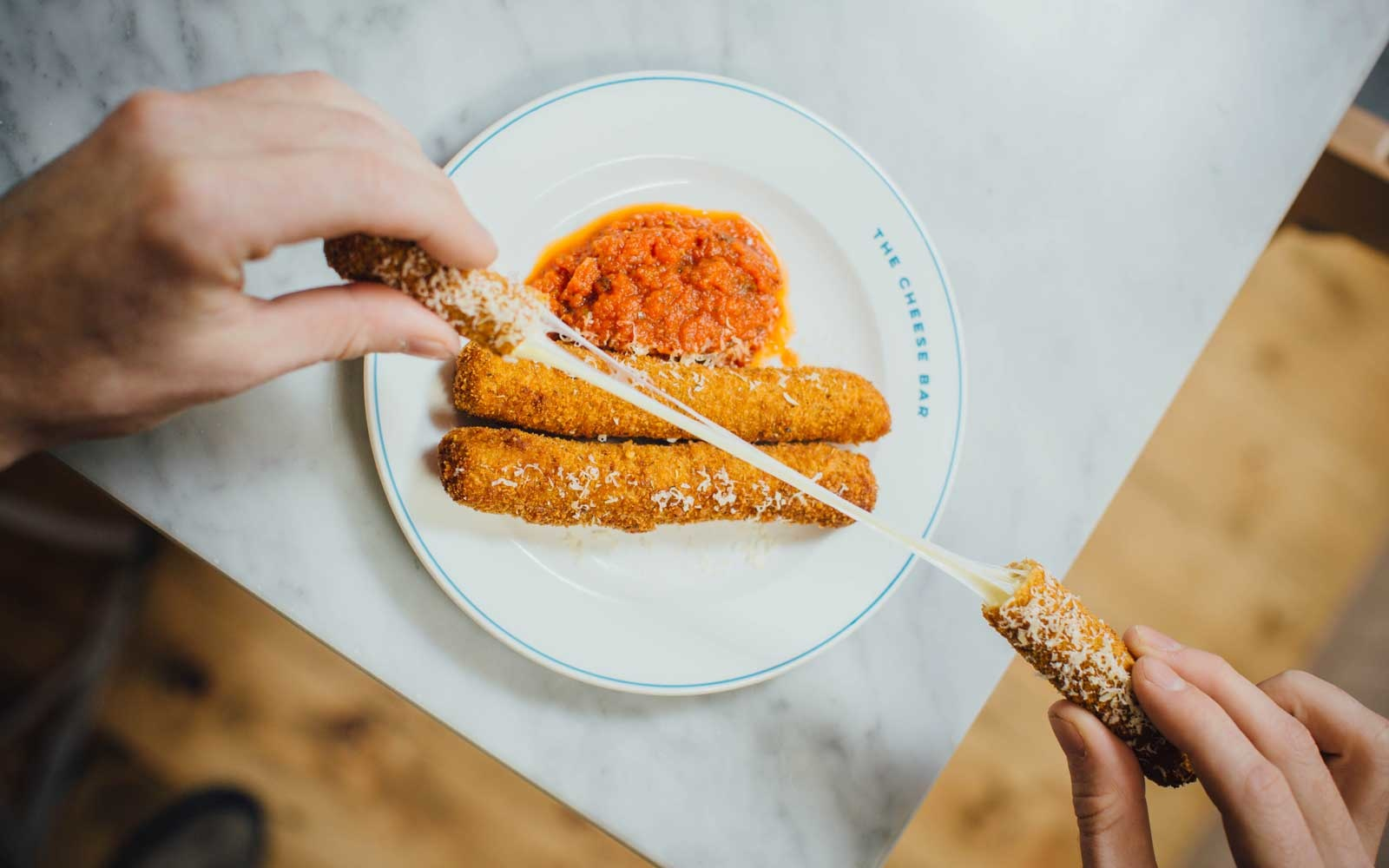 Mozzarella Sticks at Cheese Bar in London