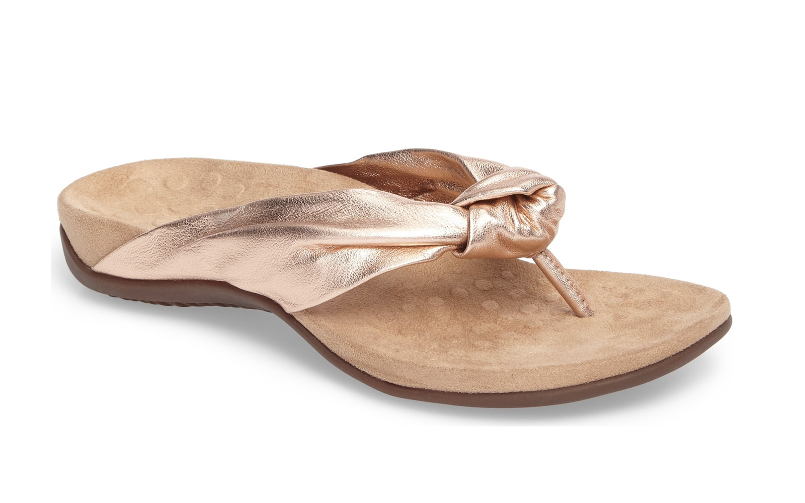 Vionic 'Pippa' Flip Flop in Rose Gold