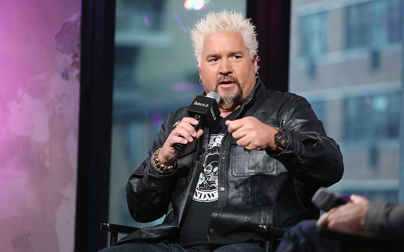 The Build Series Presents Guy Fieri Previewing His Cookbook  Guy Fieri Family Food