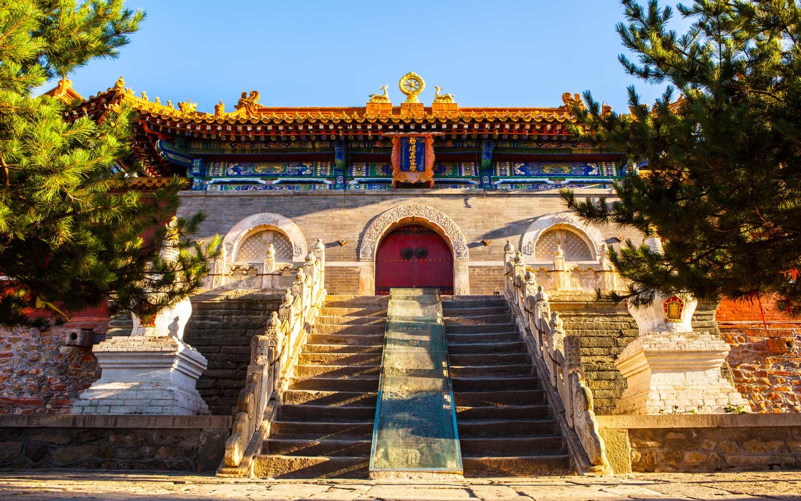Mount Wutai scene- Main gate of Buddha top(Pusa Ding) temple in China
