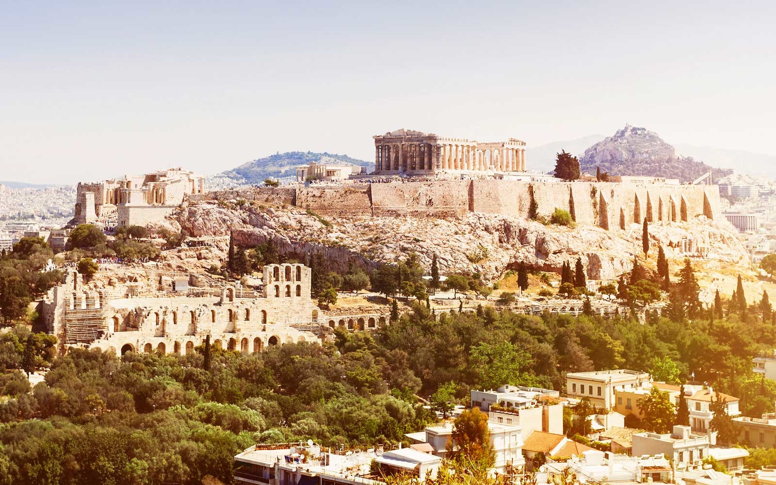 View of Acropolis, Athens, Greece