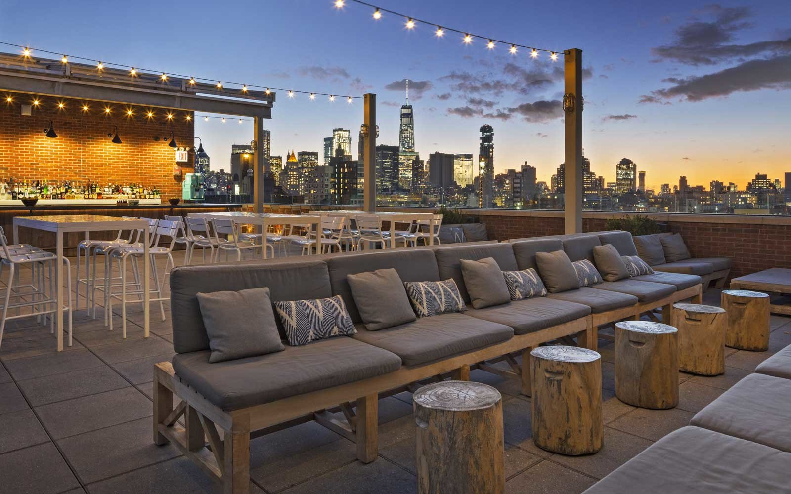 Mr Purple Rooftop Bar At The Indigo Hotel New York City