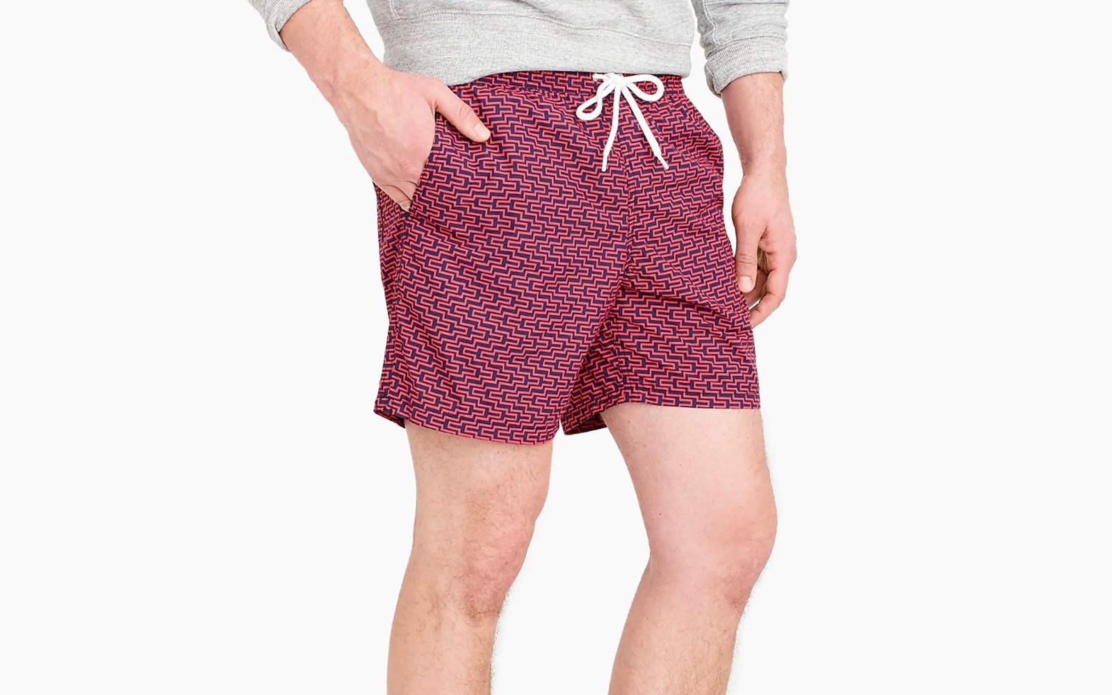 j crew mens swim trunks