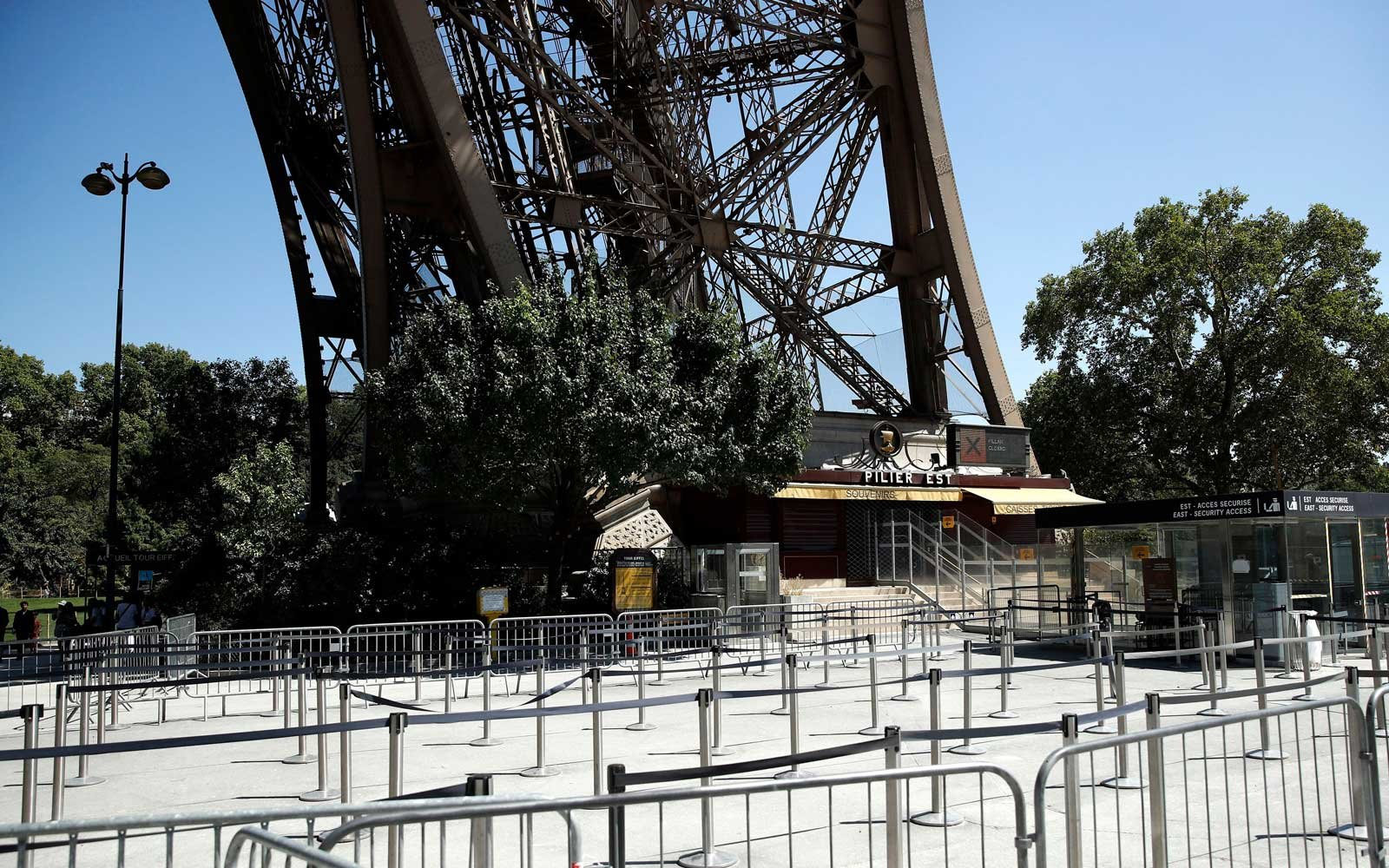 Eiffel tower employees go on strike, Paris, France - 02 Aug 2018