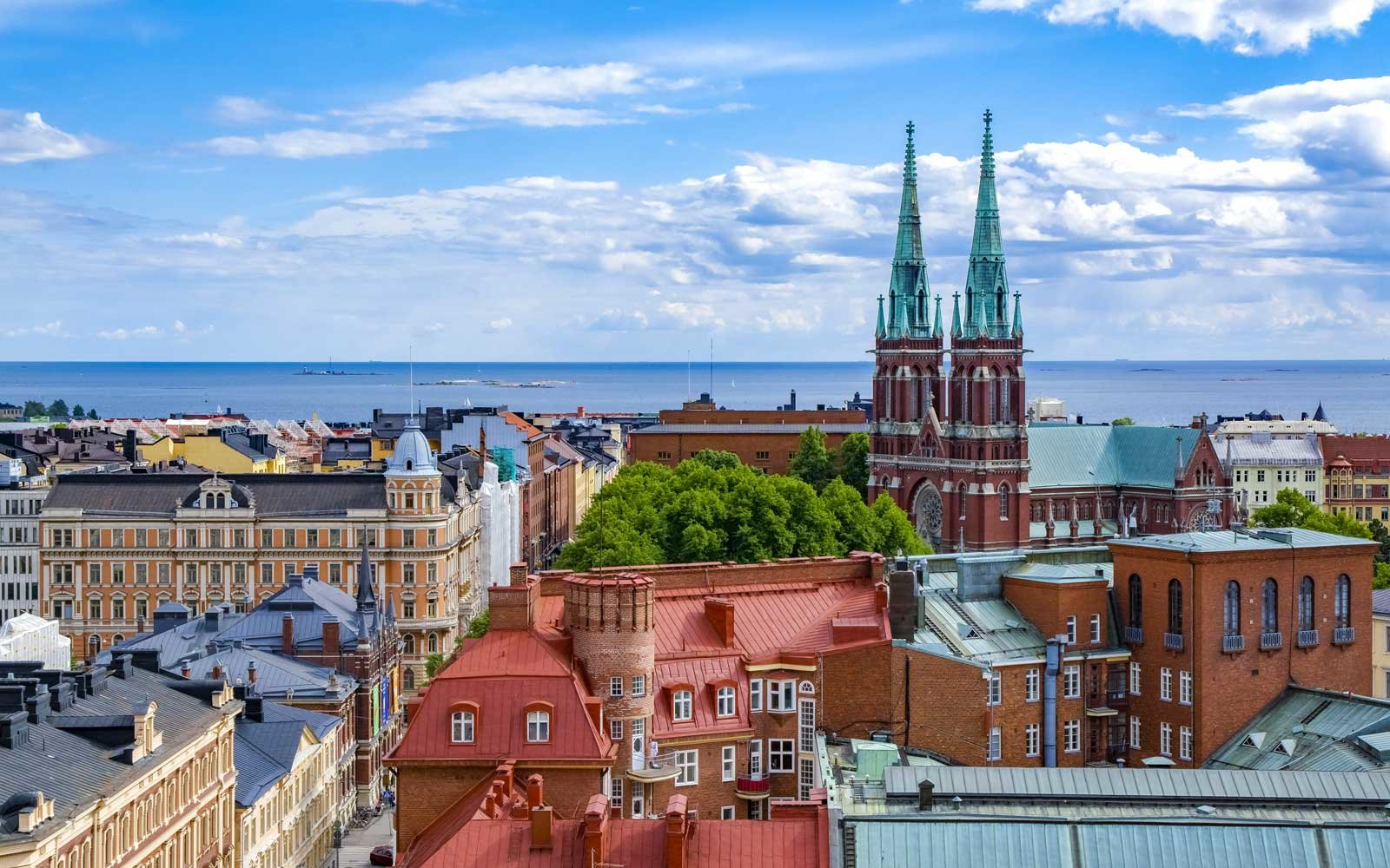 Cityscape of Helsinki, capital of Finland