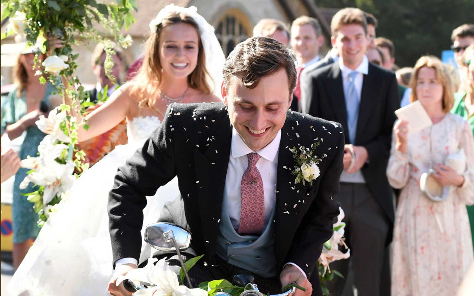 he wedding of Daisy Jenks and Charlie Van Straubenzee at Saint Mary The Virgin Church on August 4, 2018 in Frensham, United Kingdom
