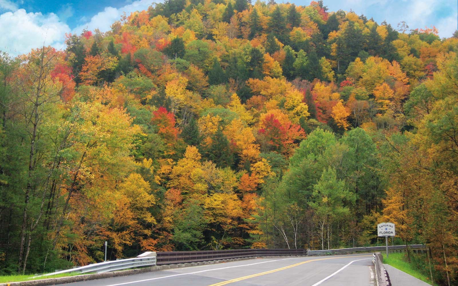 Entering the town of Florida, in the Massachusetts Mohawk Trail region, in autumn