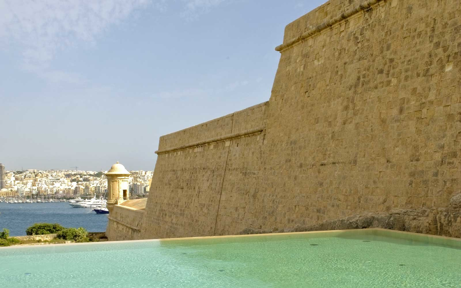 The pool at the Phoenicia Hotel, in Malta