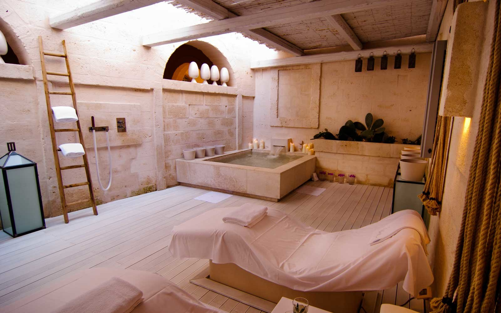 The spa at Borgo Egnazia, in Italy
