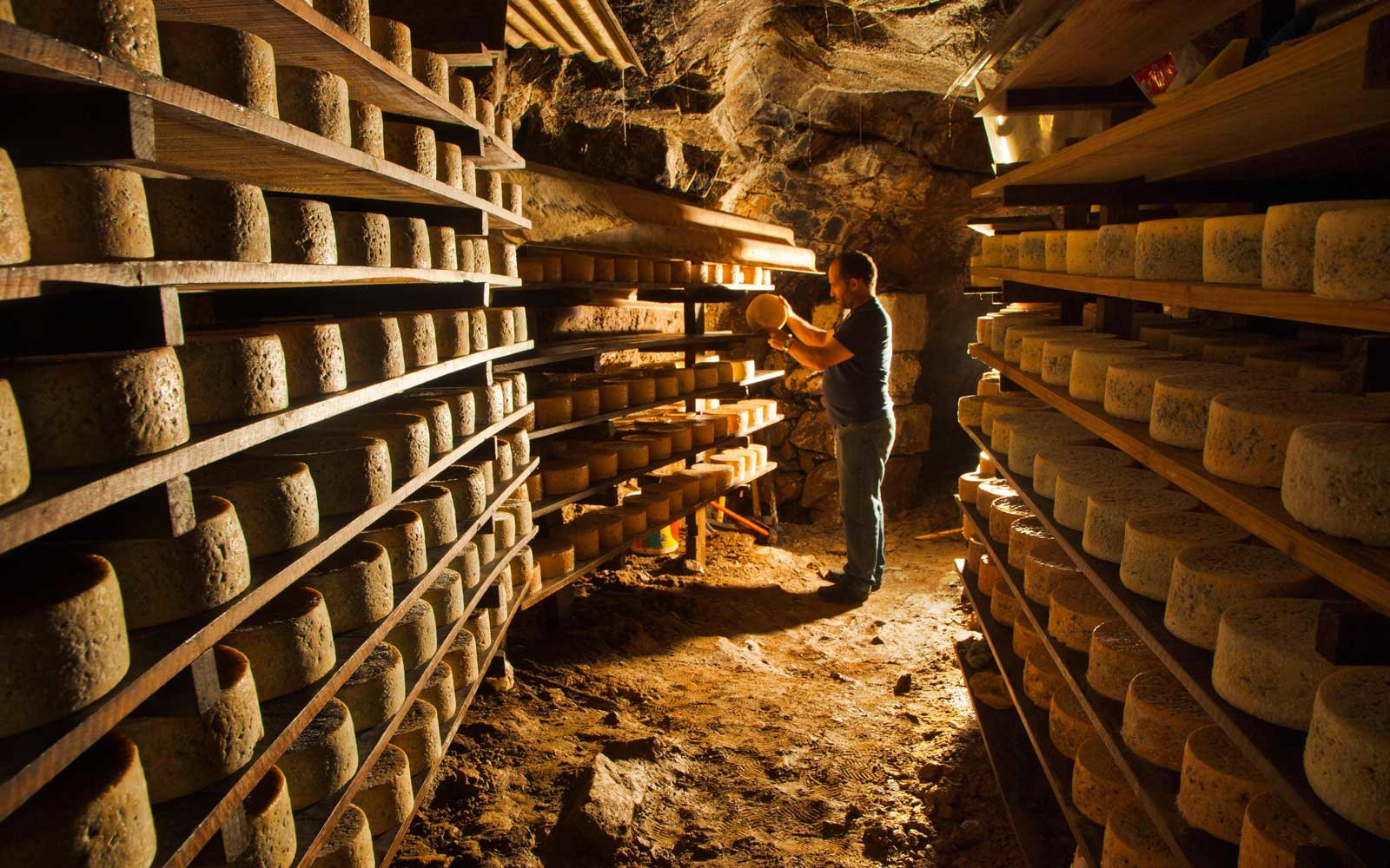 Cabrales Cheese Cave in Asturias, Spain