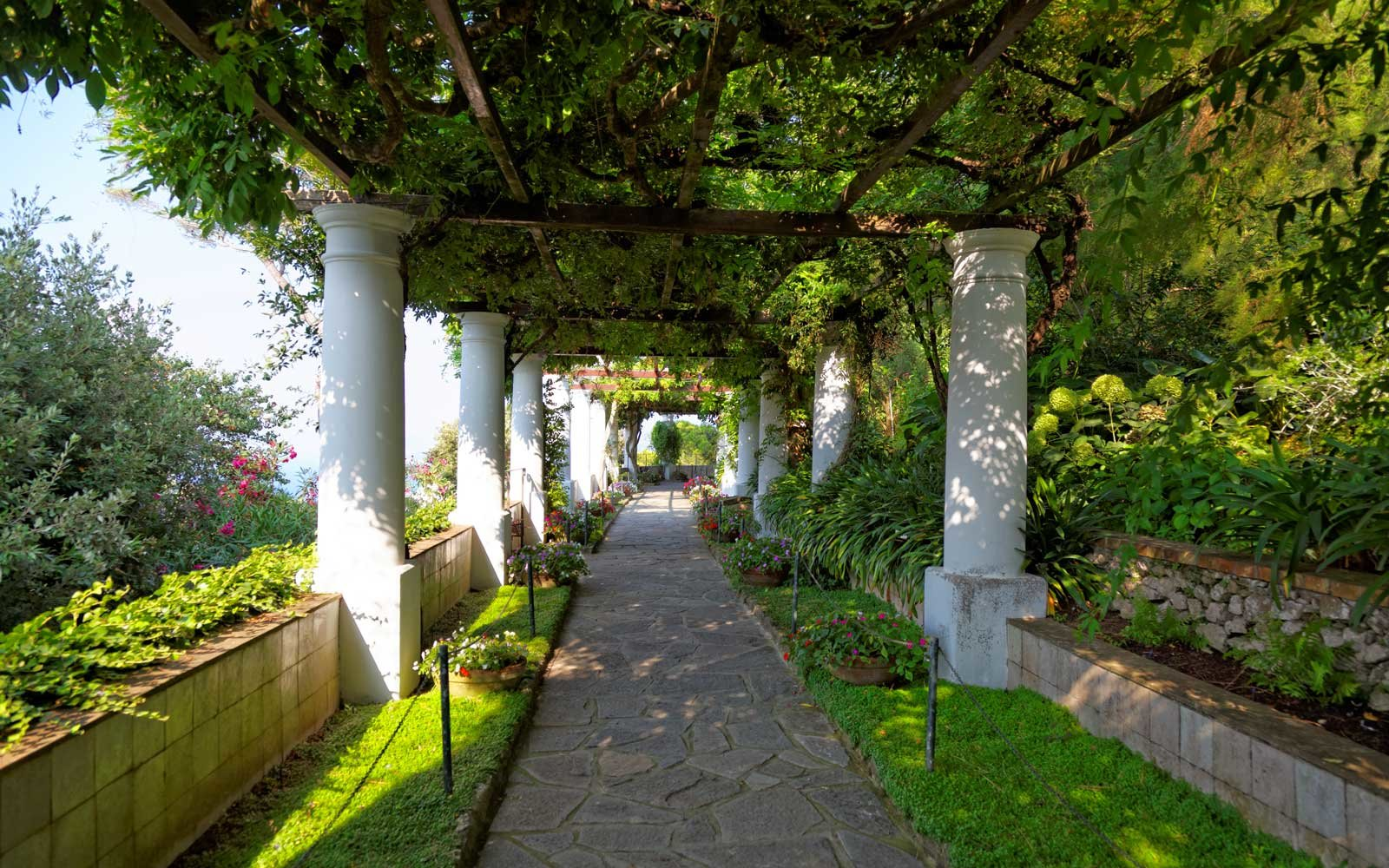 The public gardens of the Villa San Michele, Capri, Italy