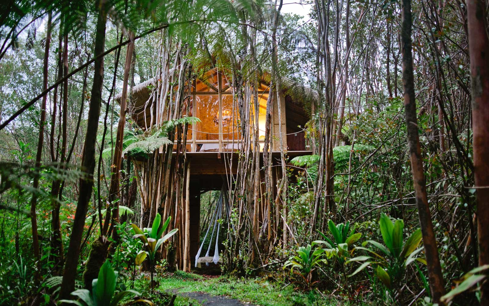 This Treehouse in the Middle of a Hawaiian Forest Is One of the ...
