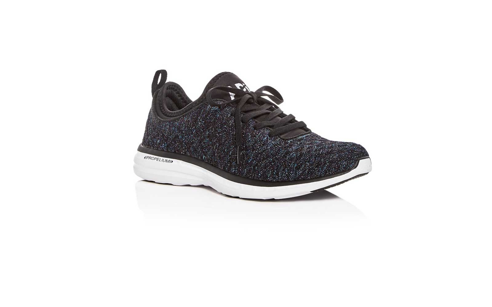 4. APL Athletic Propulsion Labs Women's TechLoom Phantom Black Lace Up Sneakers
