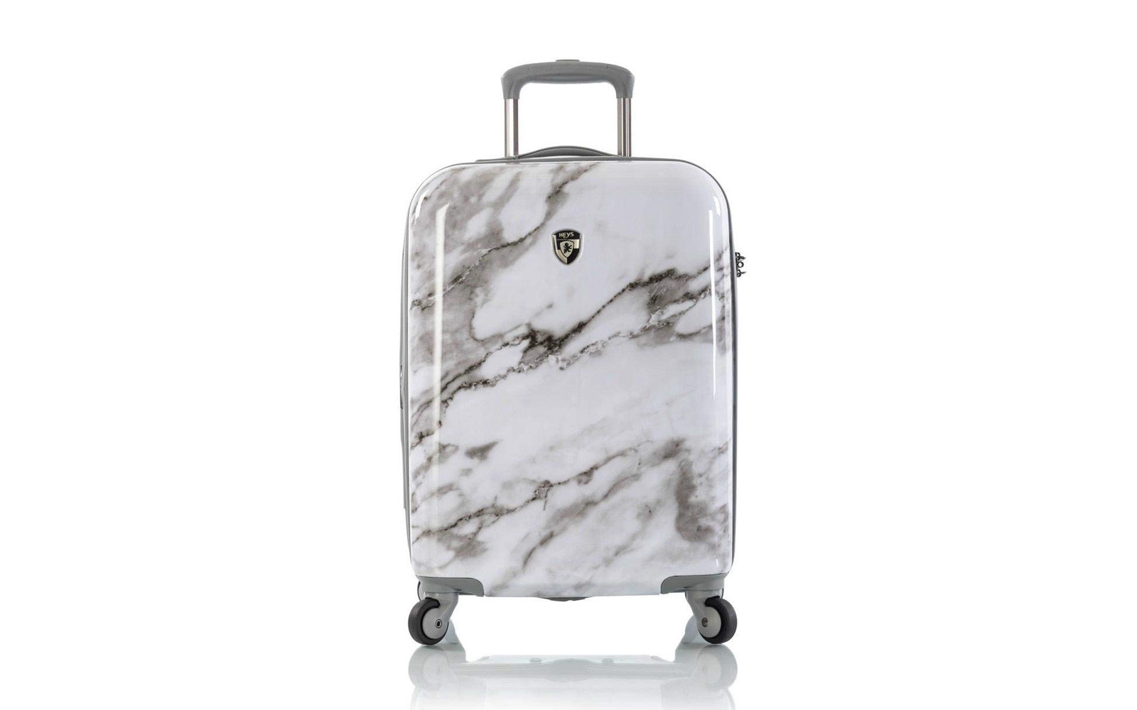 Heys Carrara White Marble 21-inch Spinner Carry-on