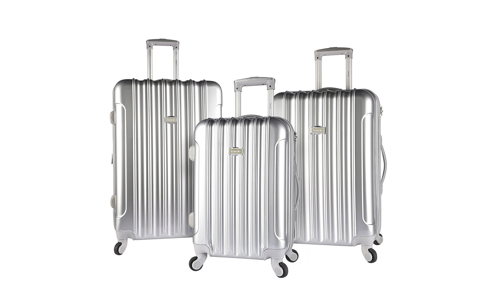 Kensie Three-piece Light Metallic Design Luggage Set
