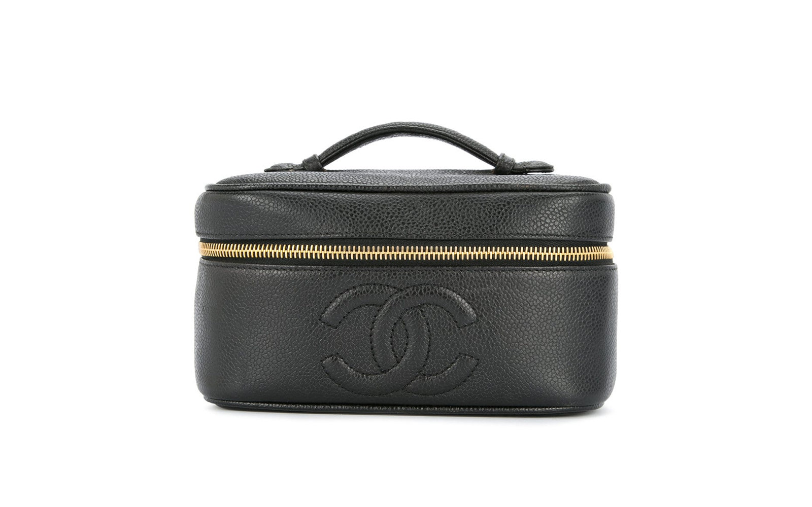 The Cosmetic Case: Vintage Chanel CC stitch vanity case