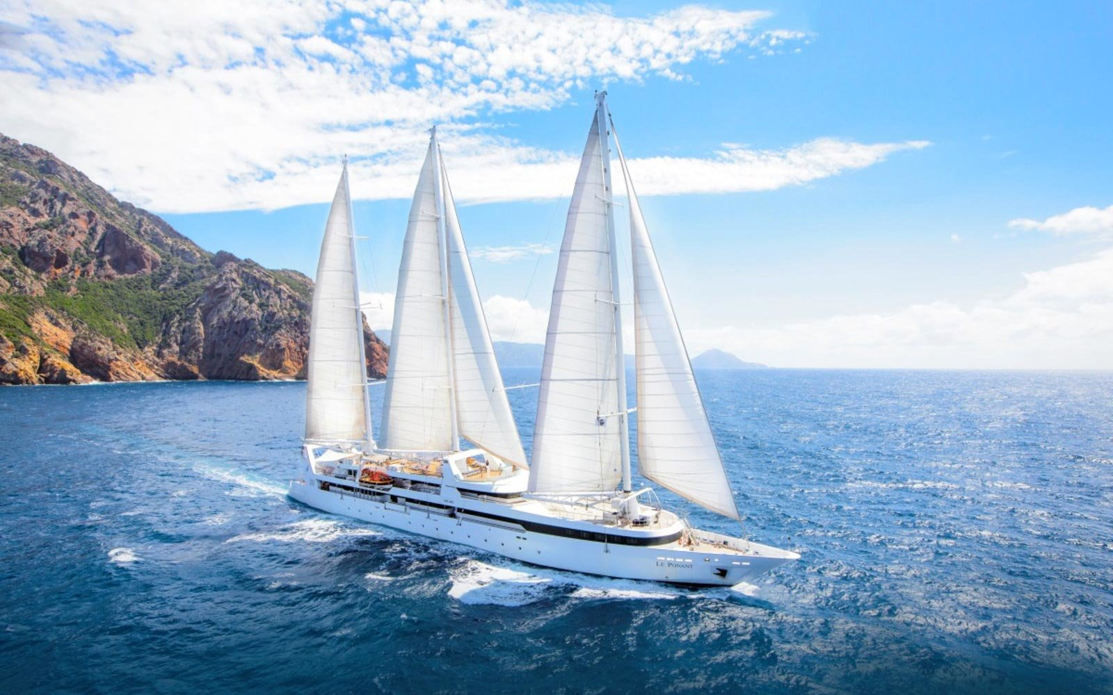 Le Ponant yacht in Corsica
