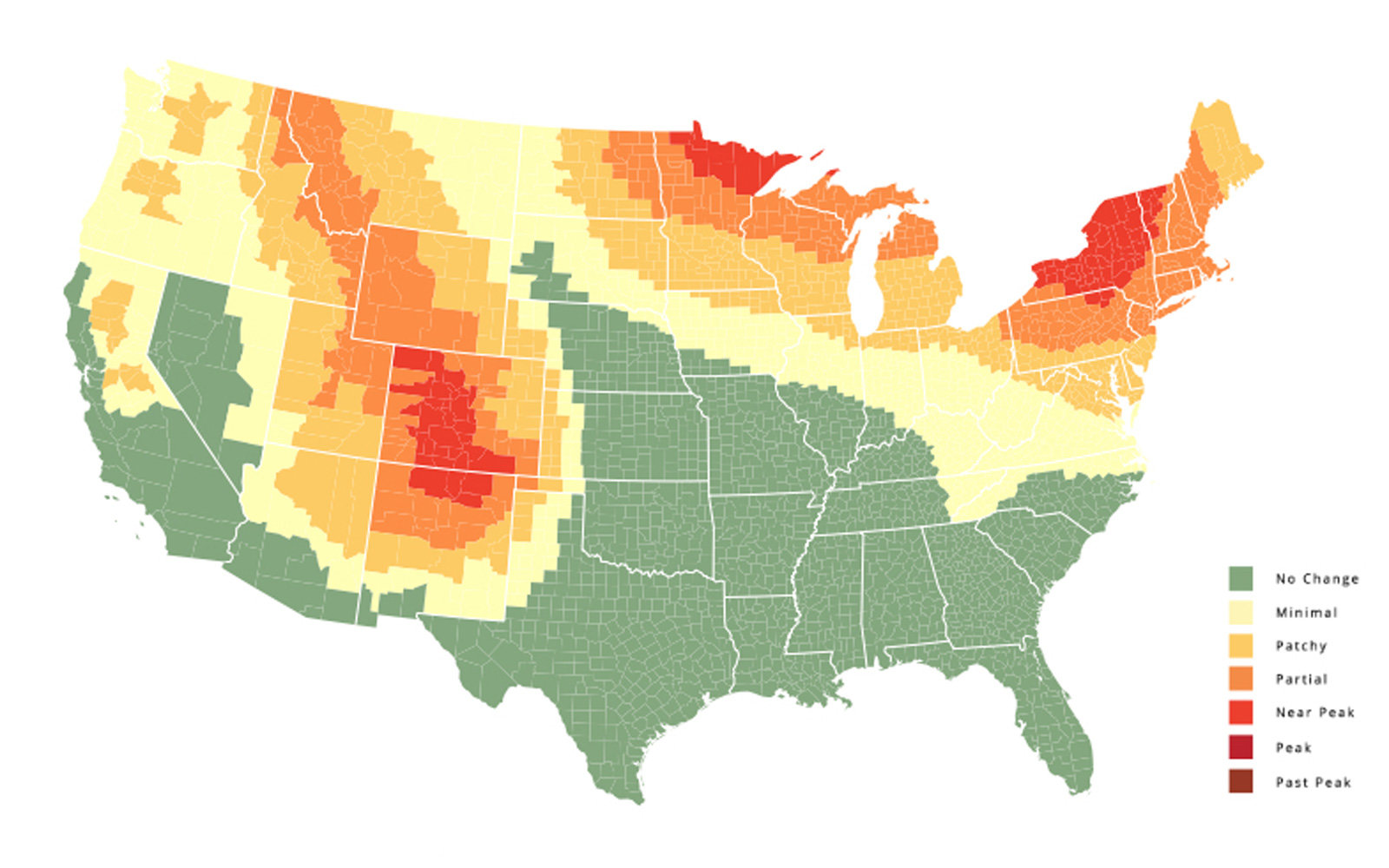 This Map Will Tell You Exactly When Fall Foliage Will Peak This Year (Video)