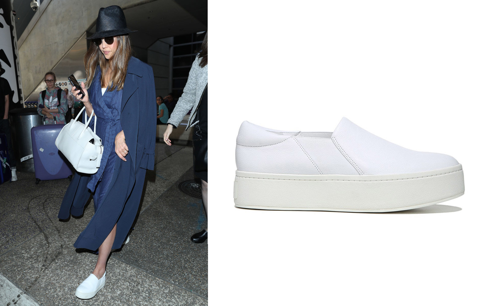 best loved 88d58 8042b Jessica Alba in Vince Slip-on Sneakers