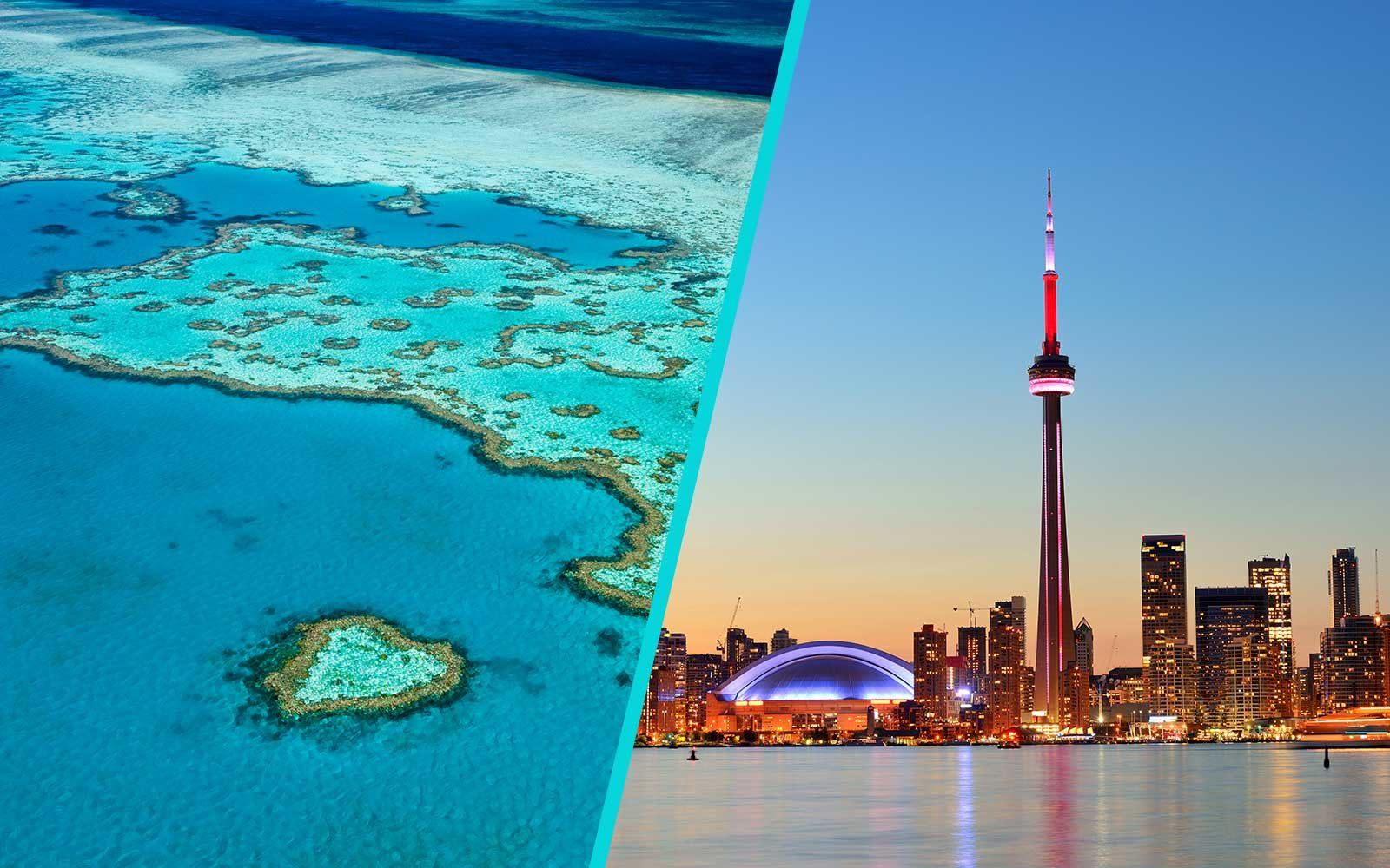 Trips for Pisces to the Great Barrier Reef and Toronto
