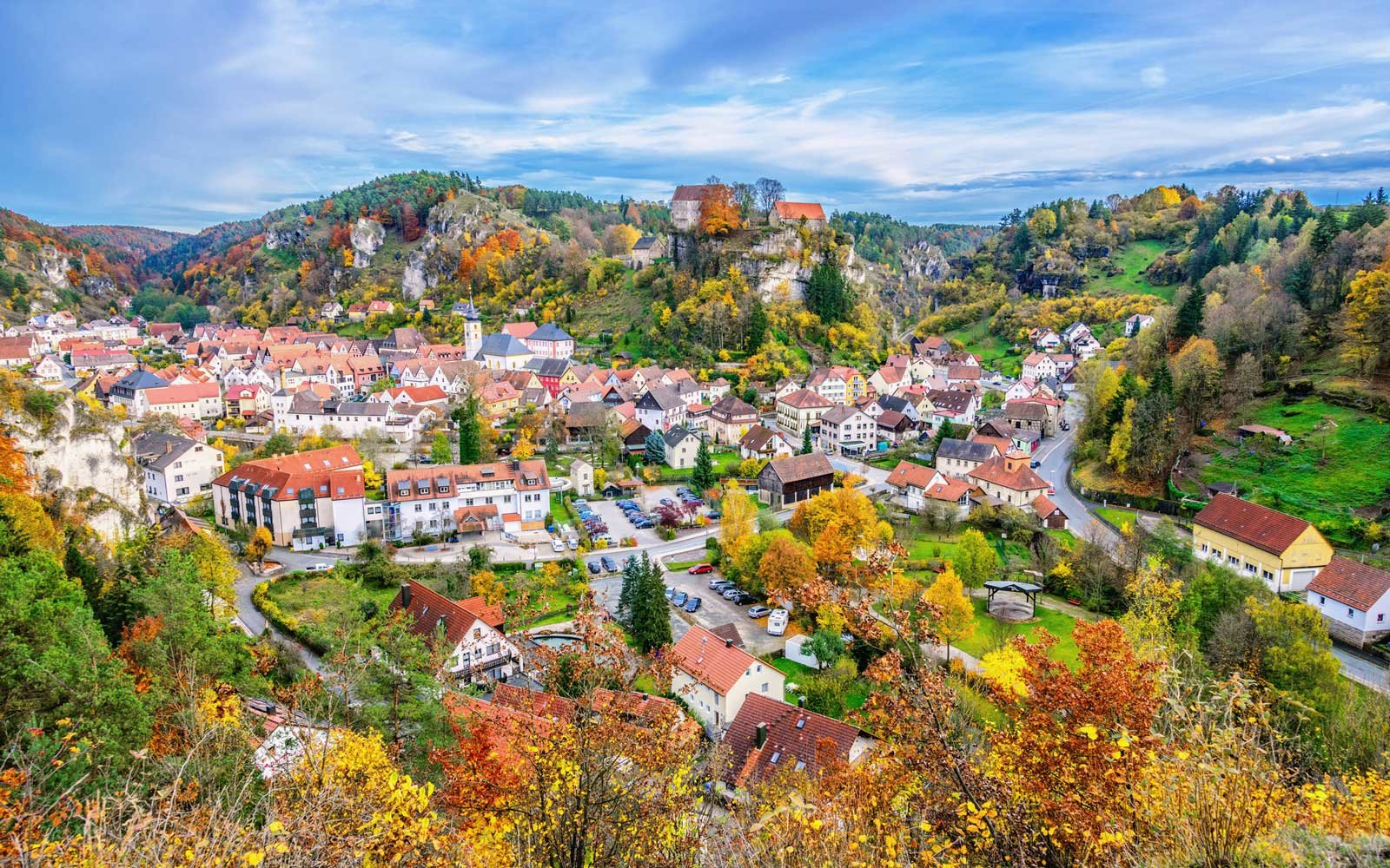Bayreuth, in the scenic Franconian Switzerland (Bavaria, Germany)