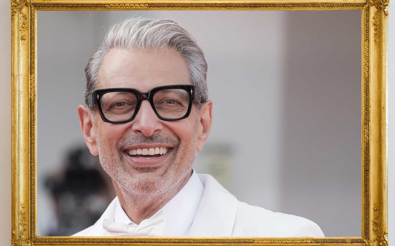 Jeff Goldblum in a gold frame