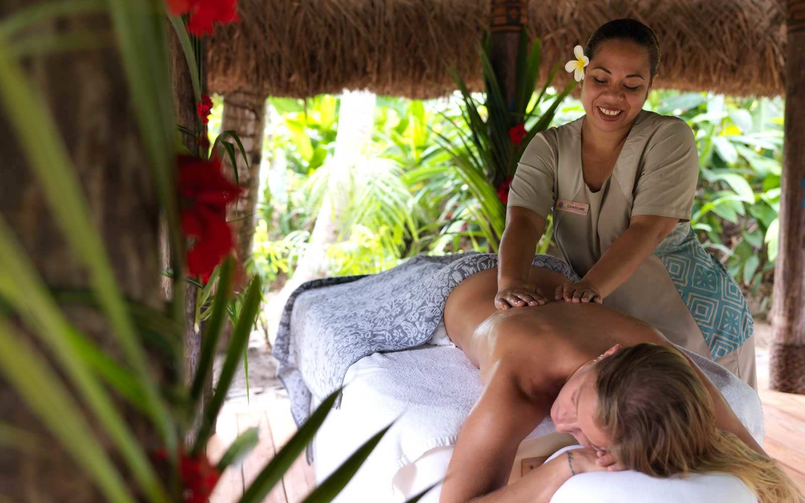 Massage at Kokomo private island resort in Fiji