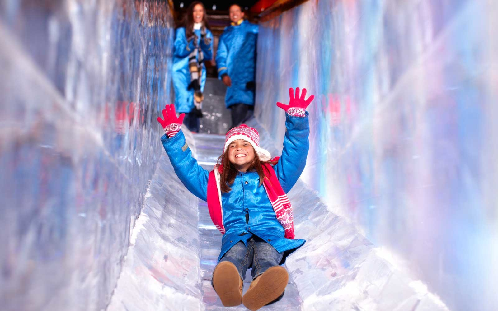 Ice slide at the Gaylord Palms