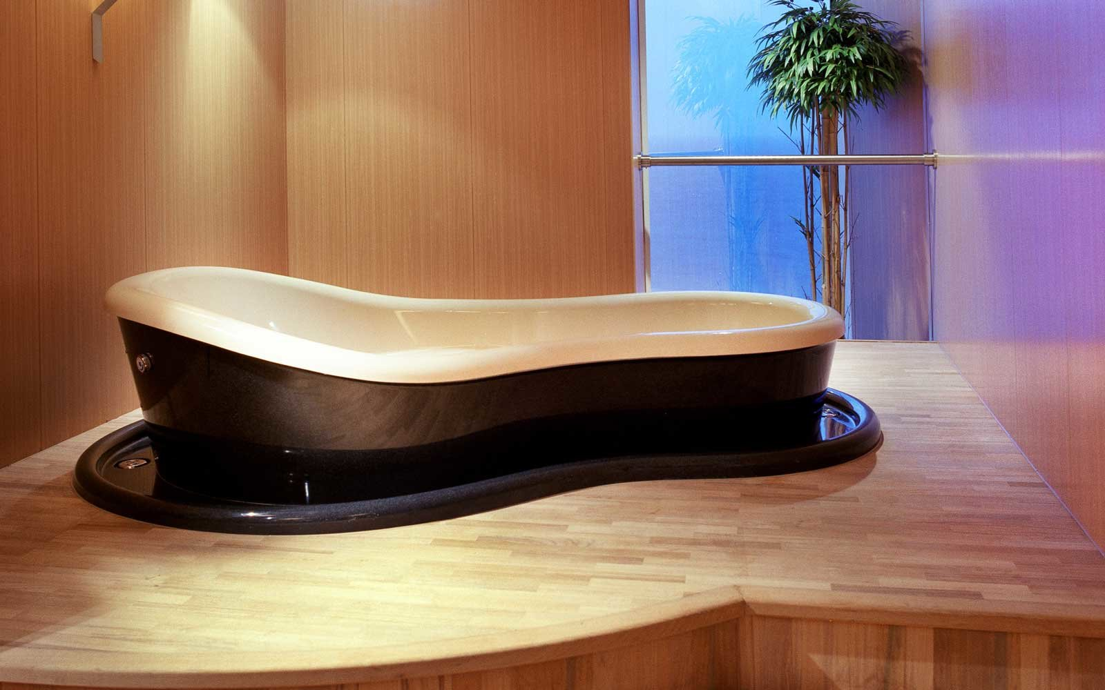 Japanese spa tub on board the Crystal Serenity
