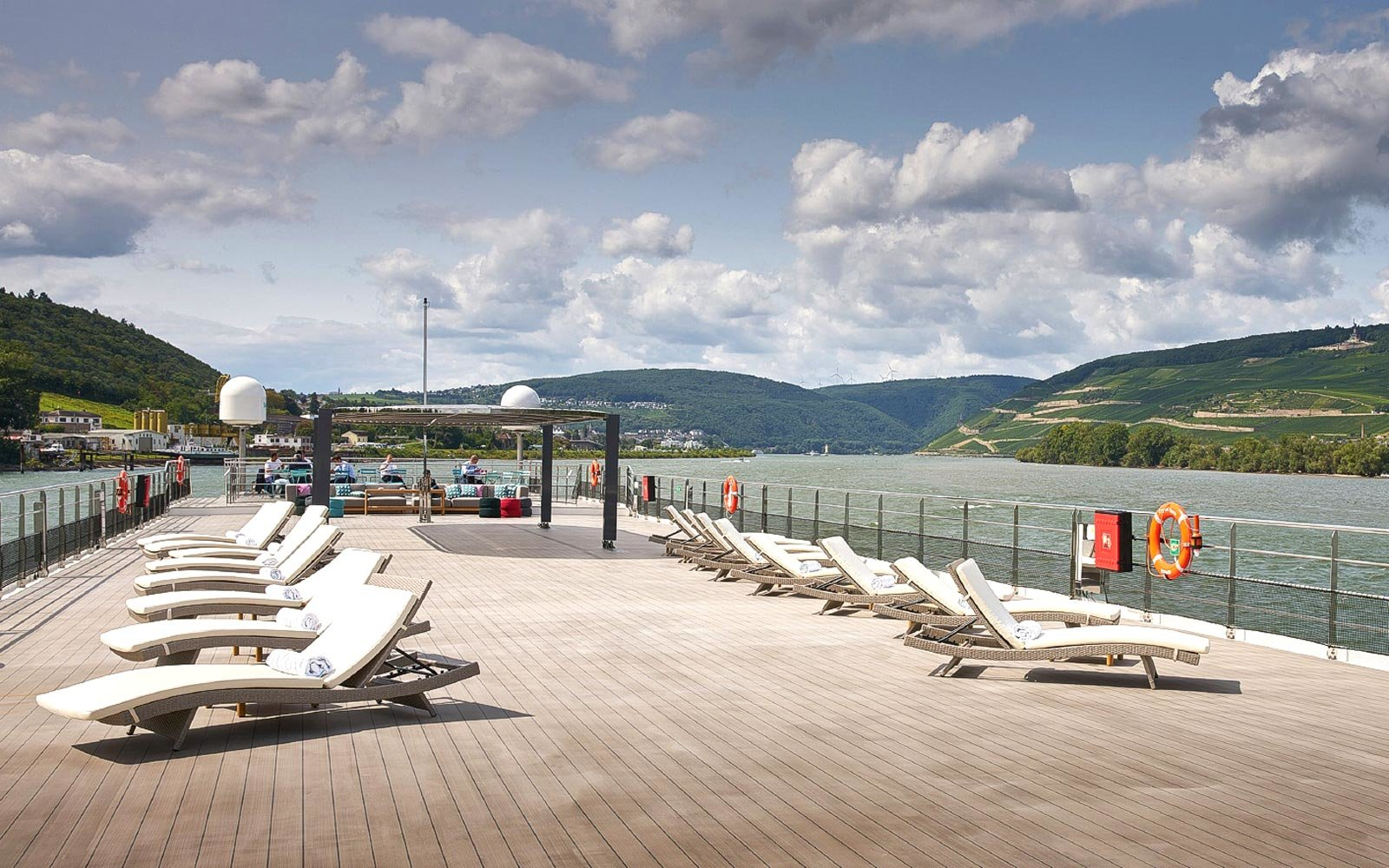 Top deck of the Crystal Cruises Rhine class river ships