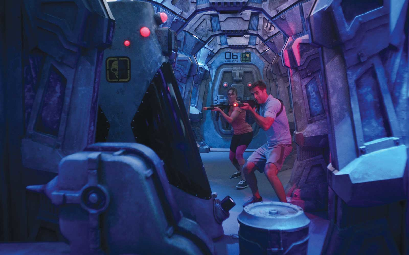 Laser Tag on board Norwegian Cruise Line's Bliss Ship
