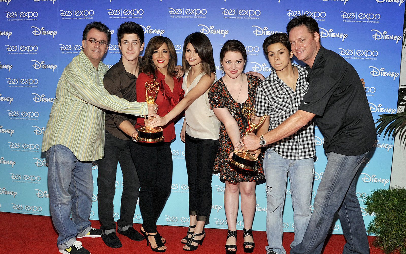The Executive Producers and the cast of 'Wizards of Waverly Place' Executive Producer Peter Murietta, actors David Henrie, Maria Canals-Barrera, Selena Gomez, Jennifer Stone, Jake T. Austin and Executive Producer Todd J. Greenwald