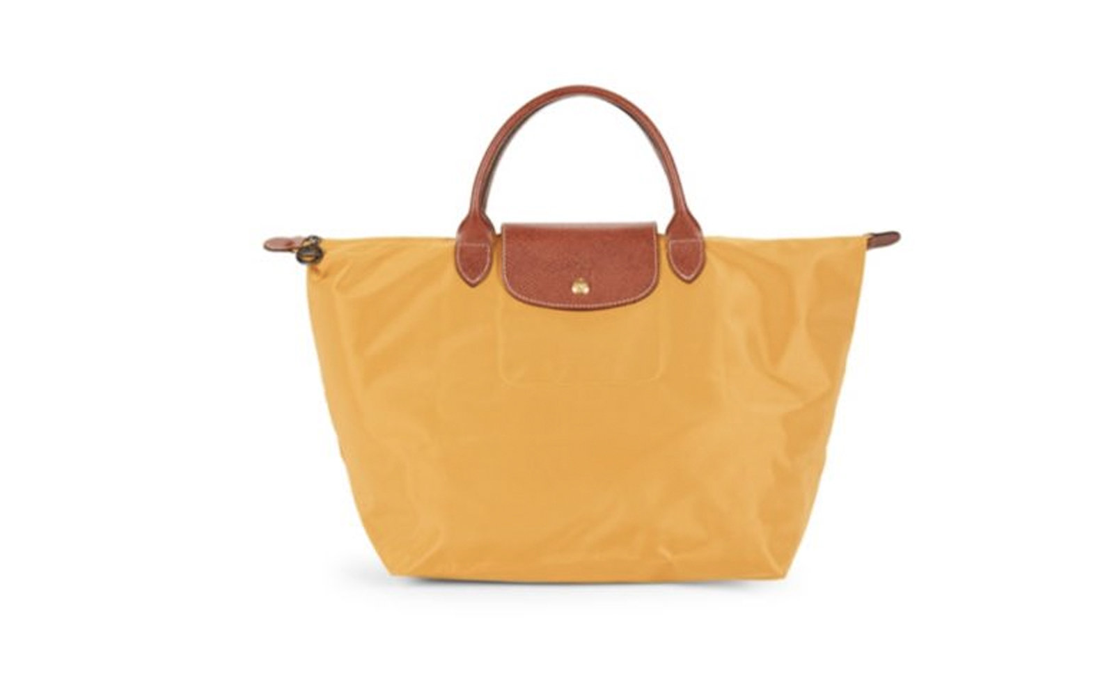 Longchamp Medium Le Pliage Top Handle Bag In Sunshine Yellow