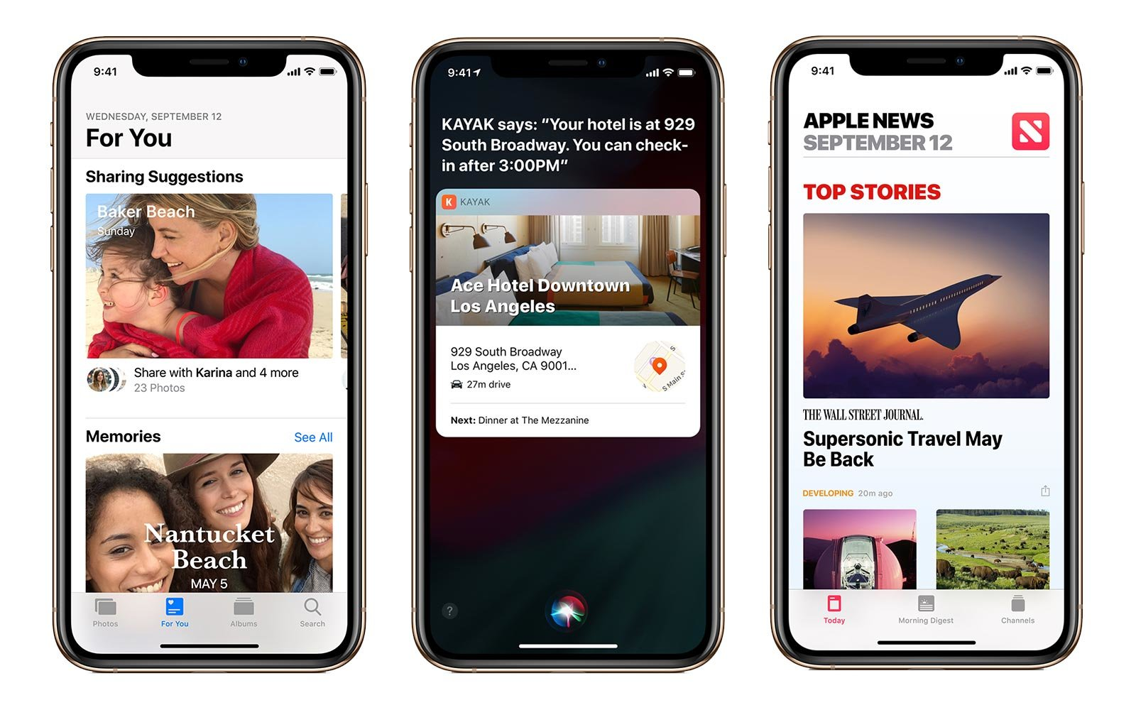 Screenshots from the new Apple iOS 12 operating system