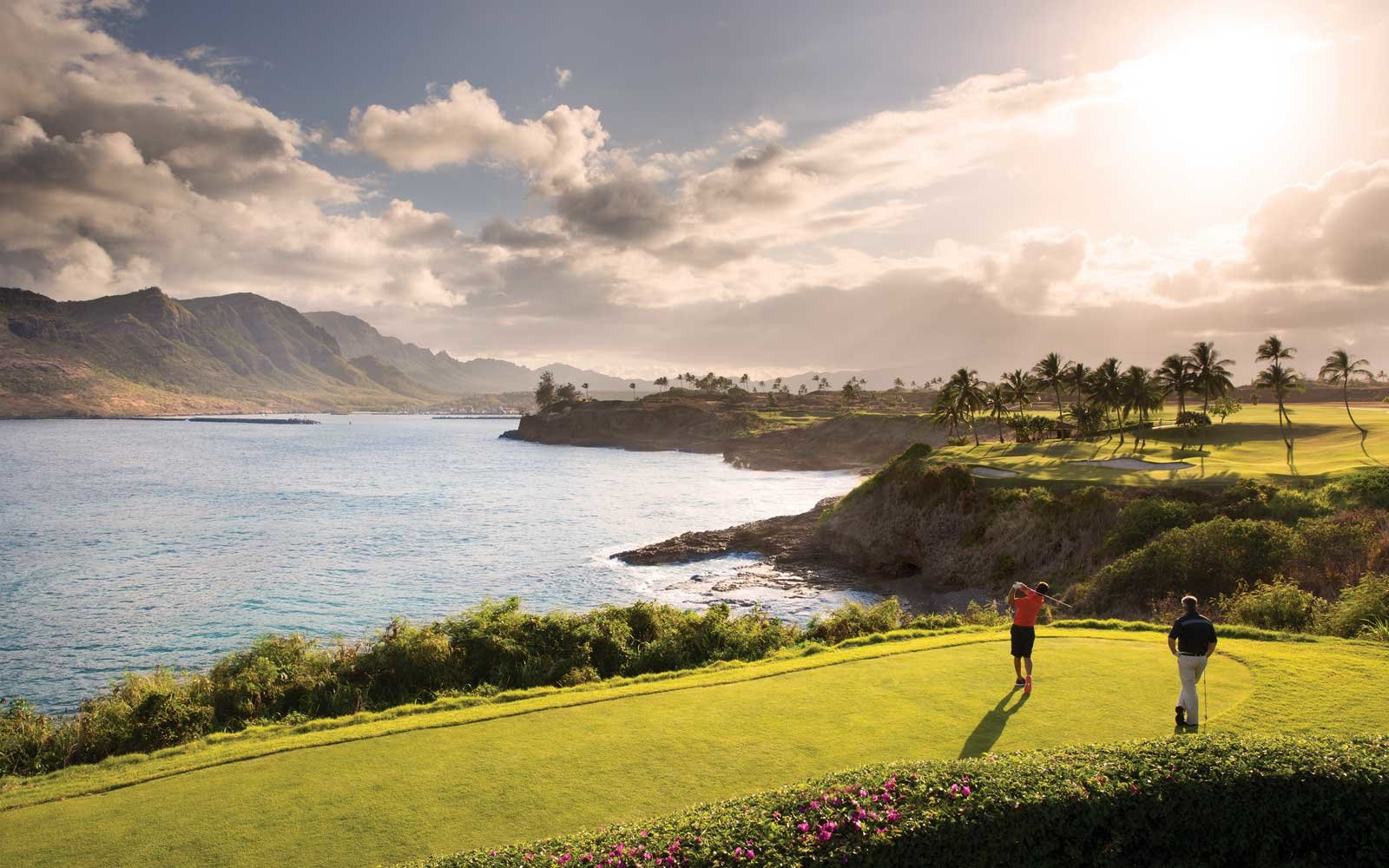 Hole 14 at the Timbers Kauai Ocean Club & Residences Golf Course