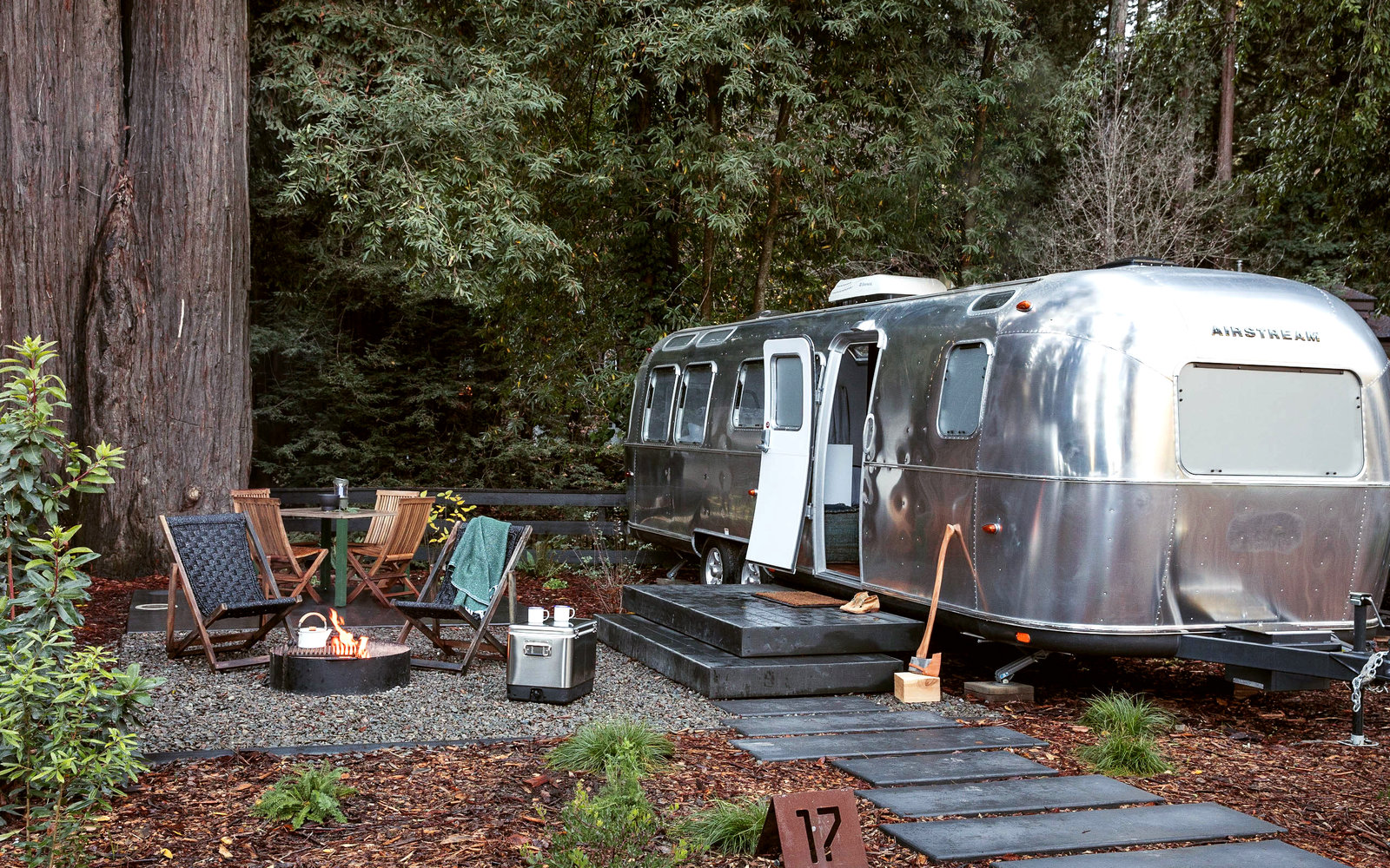 You Can Spend the Night in a Glamorous Airstream Trailer Right Outside Yosemite National Park