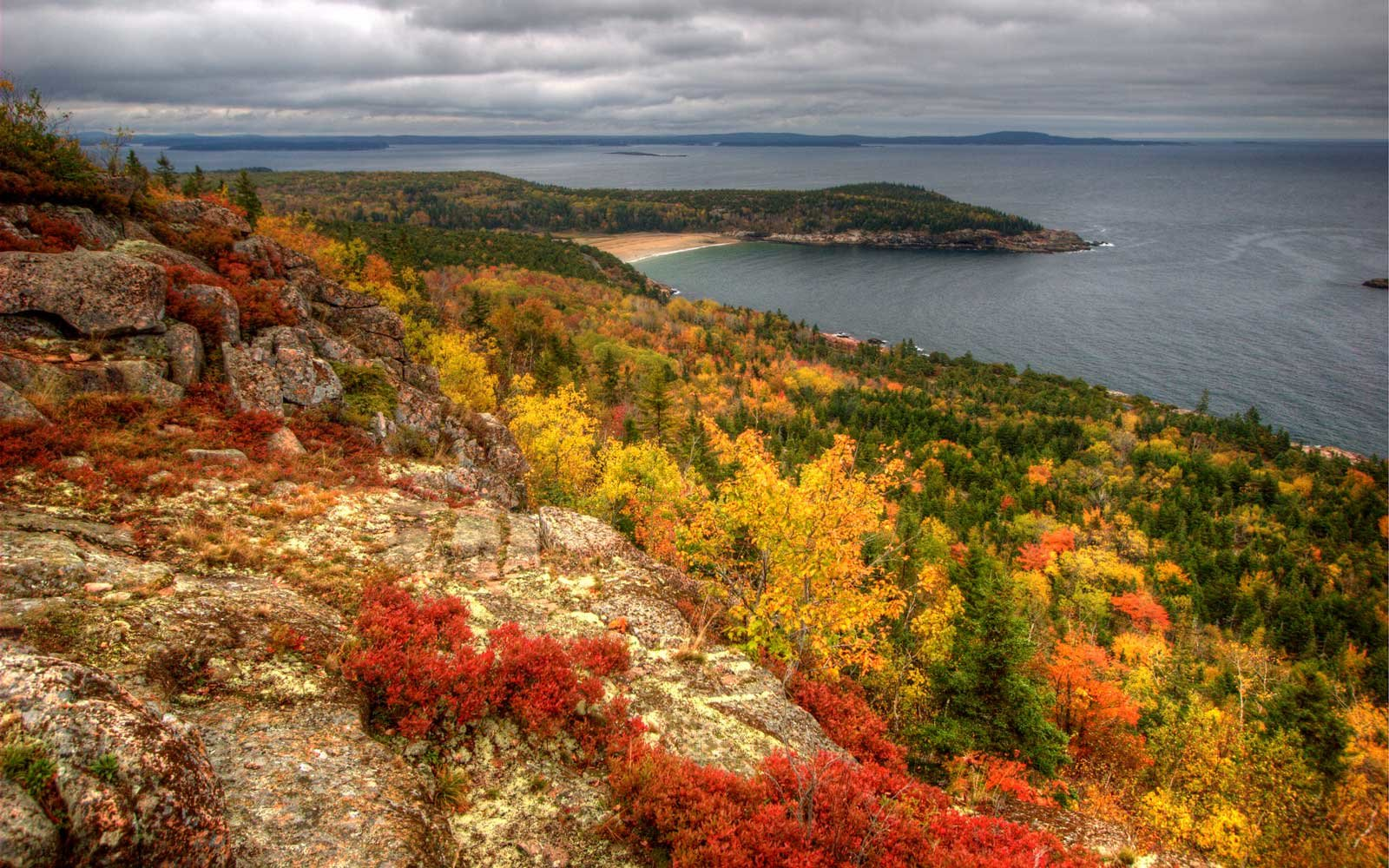 View from Gorham Mountain, Acadia National Park, Bar Harbor, Maine