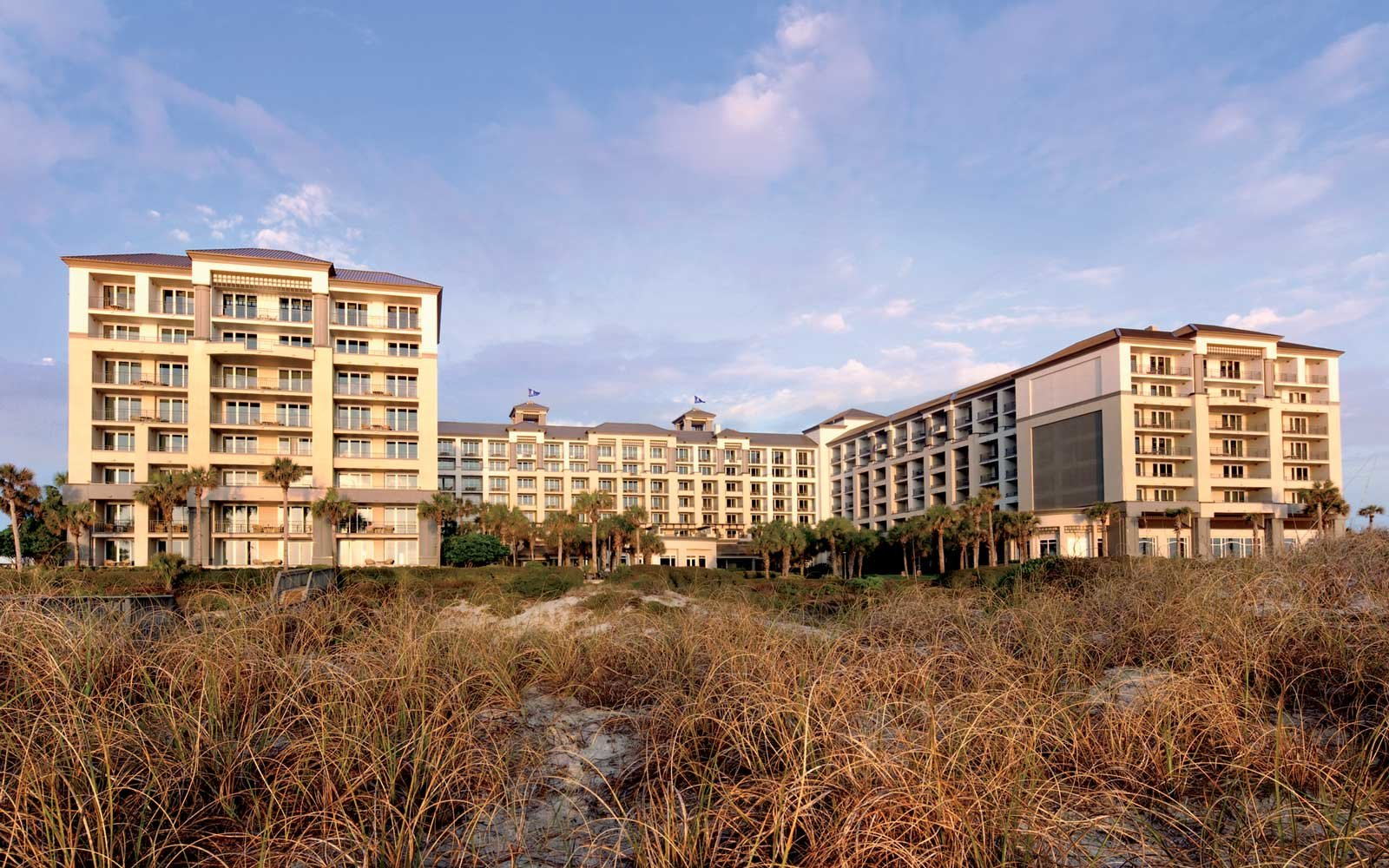 Exterior of the Ritz Carlton resort at Amelia Island, Florida