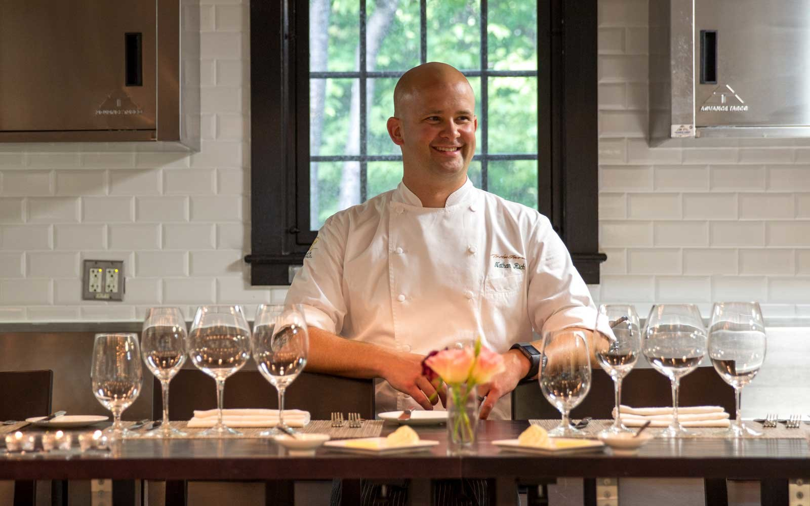 Chef Nathan Rich at Twin Farms Resort in Barnard, Vermont
