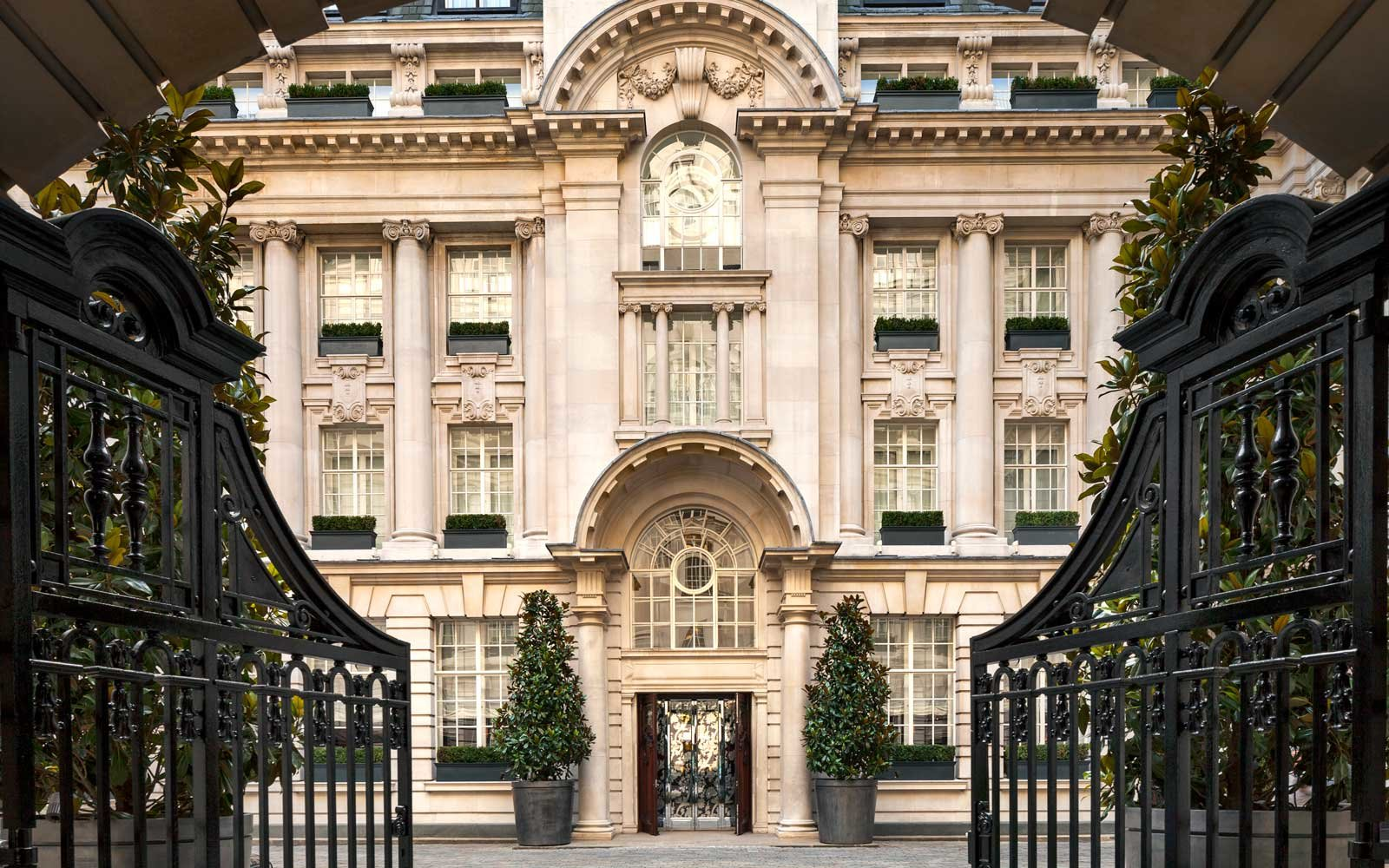 Gates of the Rosewood Hotel, London