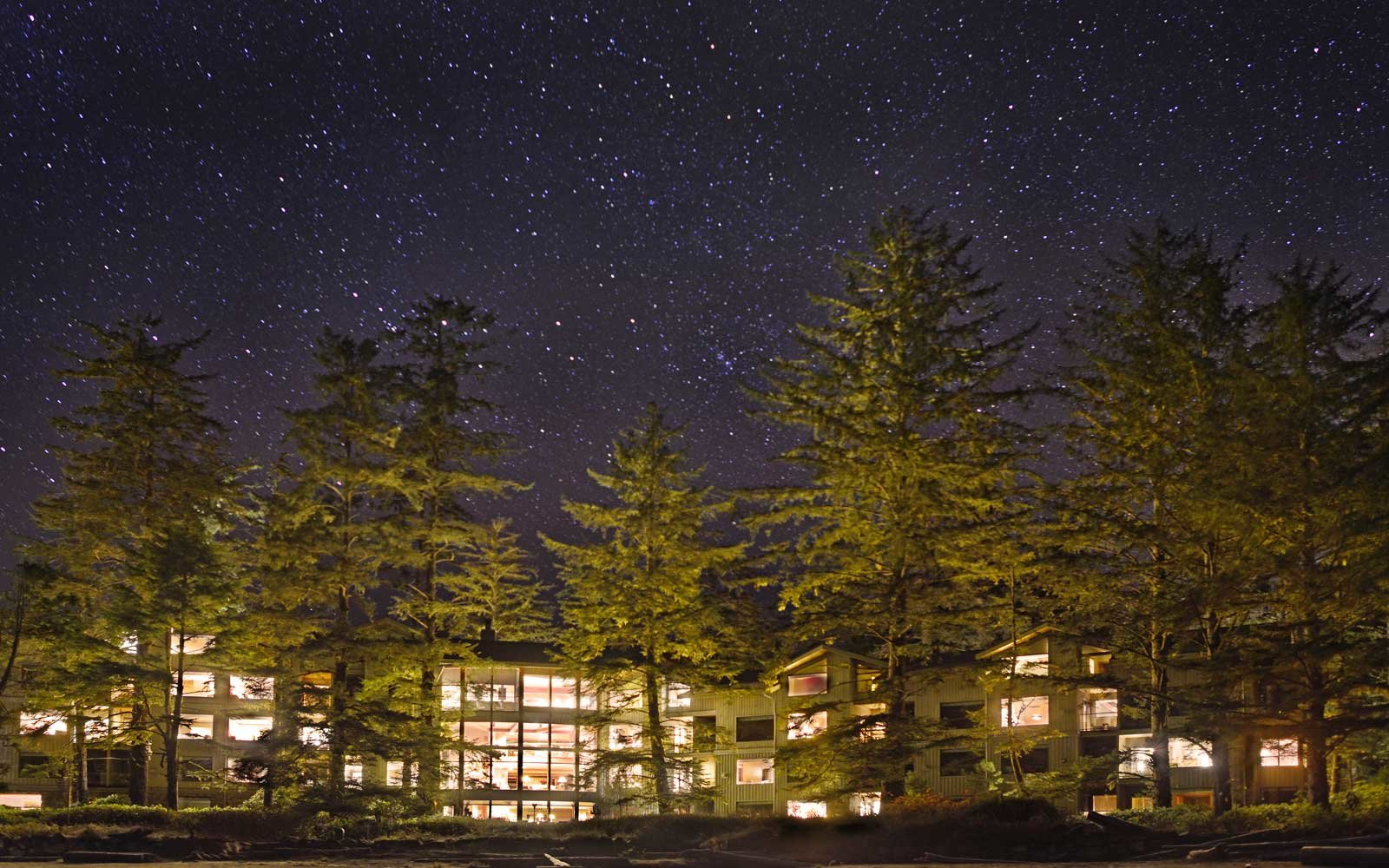 Wickaninnish Inn, British Columbia, under the stars