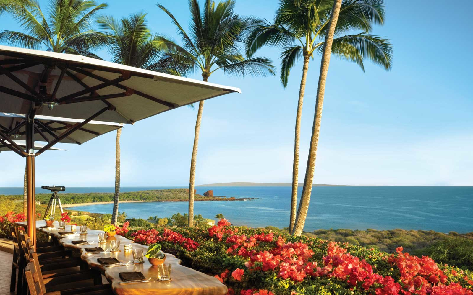 View from the Four Seasons Resort in Lanai, Hawaii