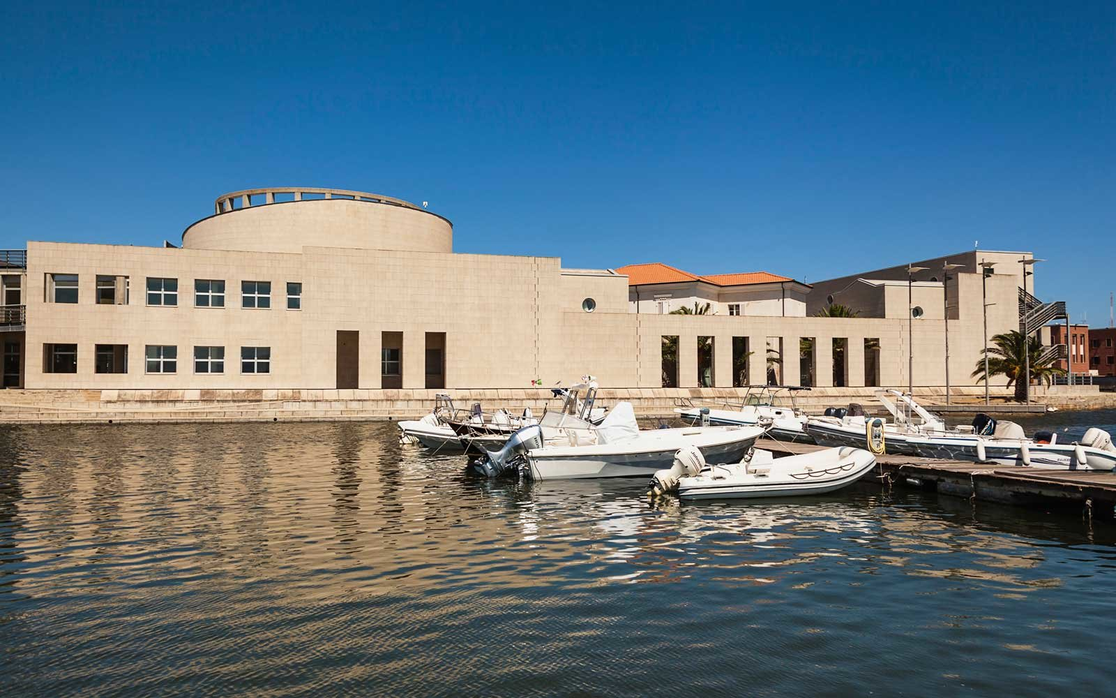 Italy, Sardinia, Olbia, National Archaeology Museum and Museo Del Mare.