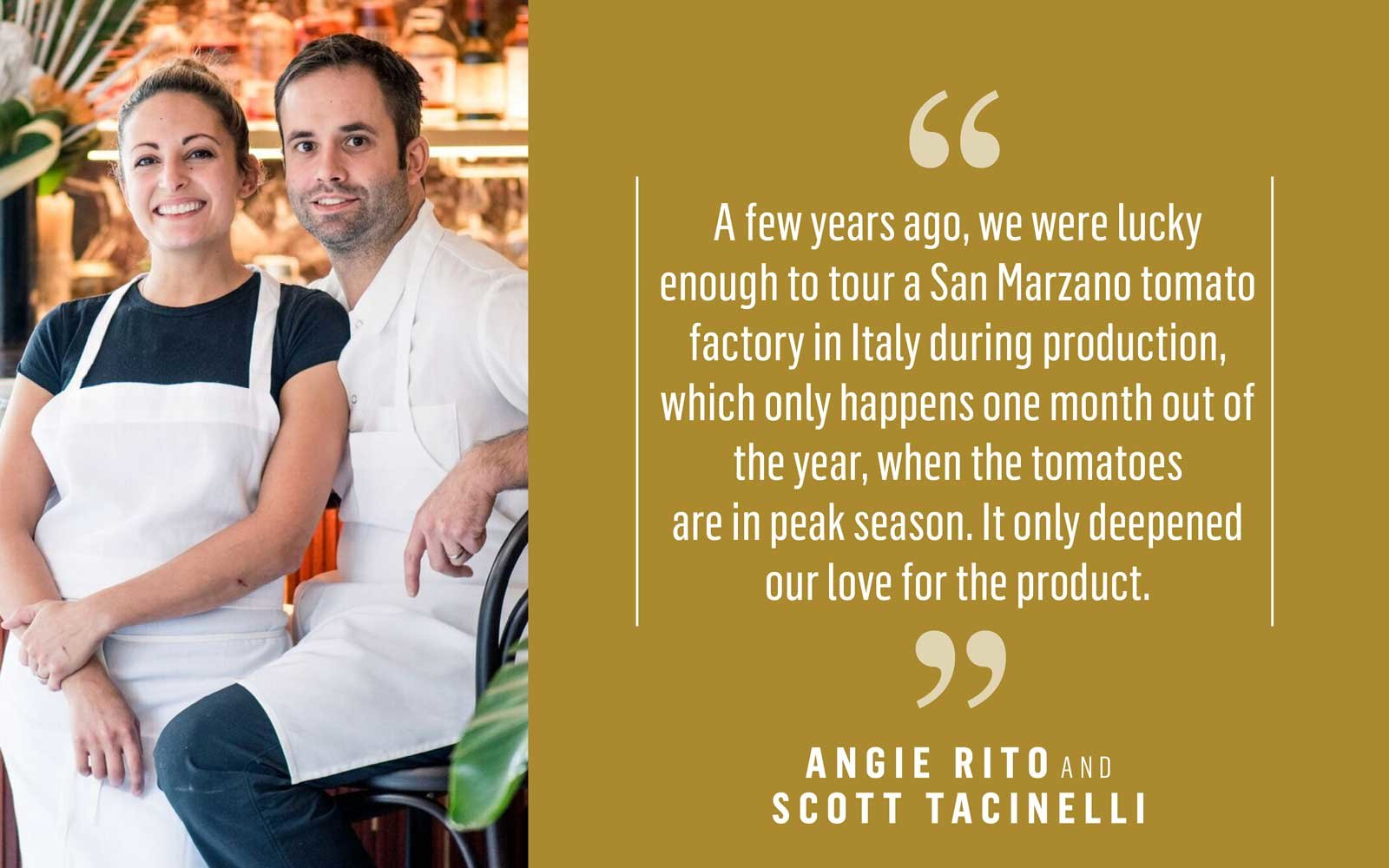 Chefs Angie Rito and Scott Tachinelli